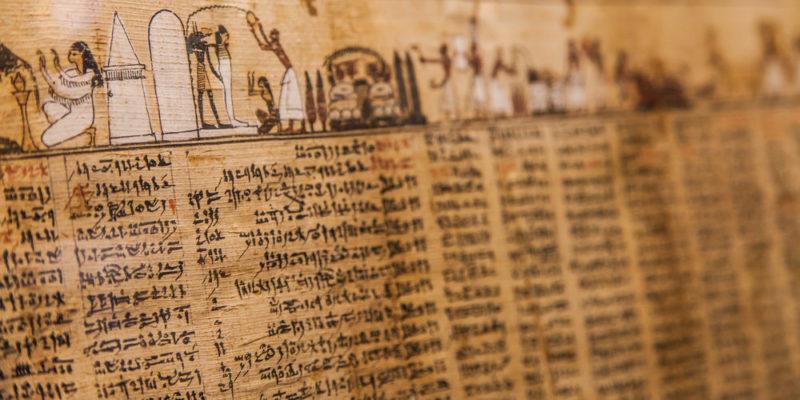 civilización egipcia: escritura