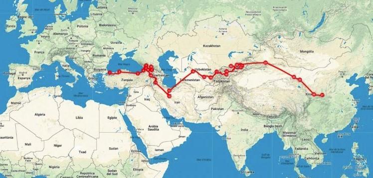 mapa avance china