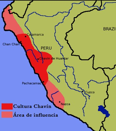 mapa cultura chavín