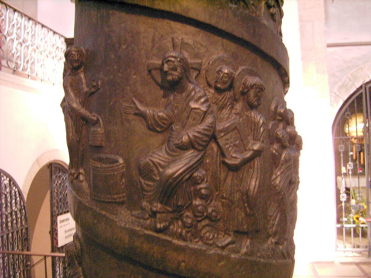 """Columna de Cristo"""" de bronce"""