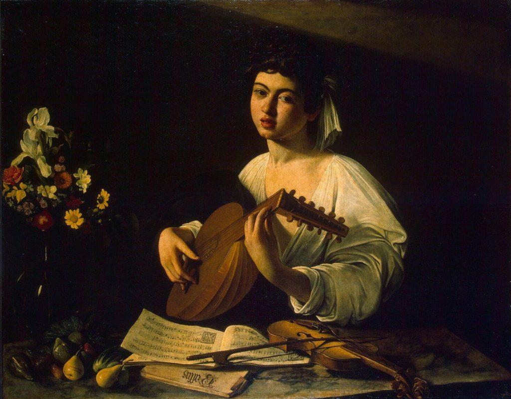 Pinterest Caravaggio. El tocador de laúd