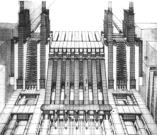 Futurismo: Plano de Antonio Sant'Elia