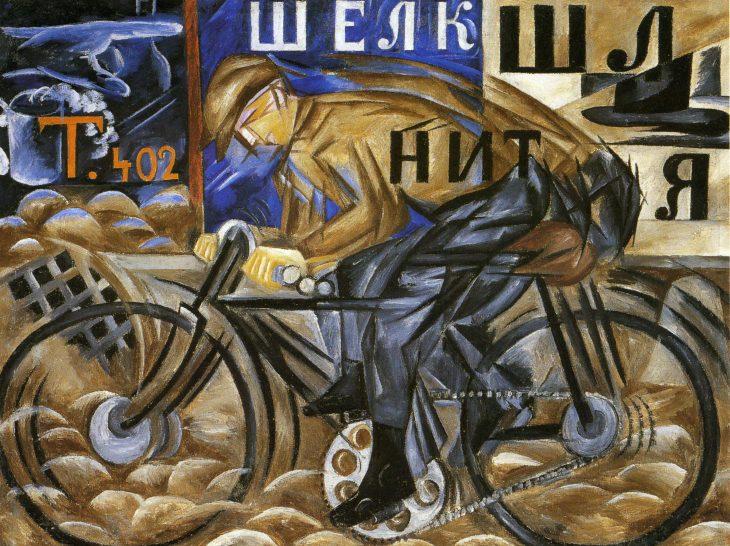 futurismo: el ciclista