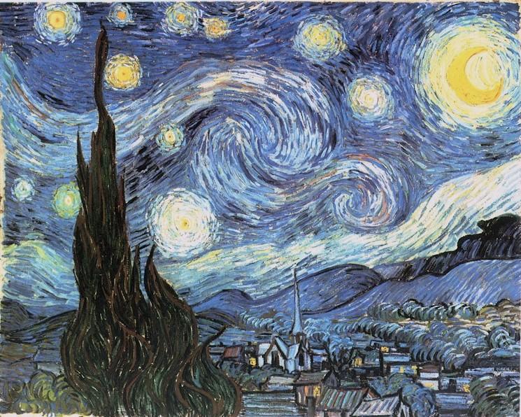 la noche estrellada van gohg